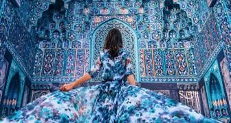 Ho girato il mondo per fotografare donne in eleganti vestiti davanti ai luoghi più belli in assoluto