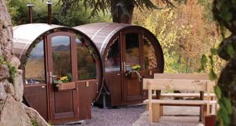 Questo b&b si trova a due passi dalla Foresta Nera e fa dormire all'interno di botti di vino