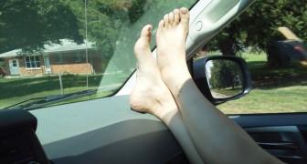 Voilà pourquoi vous ne devez jamais mettre les pieds de cette façon quand vous êtes en voiture.