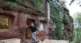 Nachdem er herausfand, dass er krank ist, kaufte er eine 3000 Jahre alte Höhle... und baut das Zuhause seiner Träume