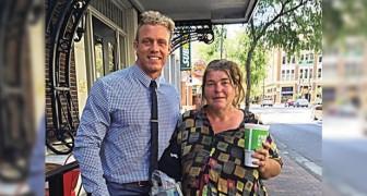 Hij luncht iedere dinsdag met deze dakloze vrouw, totdat ze hem op een dag iets schokkends vertelt