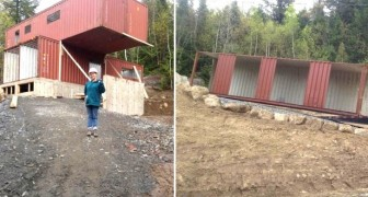 Ze koopt 4 zeecontainers en bouwt het huis van haar dromen: dit is het eindresultaat