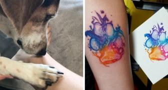 Queste persone hanno reso speciale il tatuaggio della zampa del loro cane: ecco qualche idea