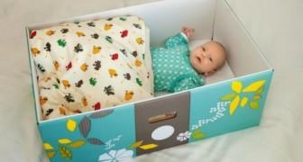 In Finnland legen Mütter ihre Kinder zum Schlafen in Pappschachtel und der Grund hierfür ist interessant
