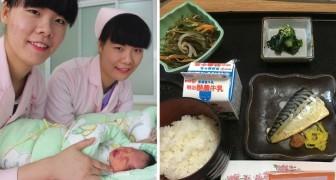Eine Frau gebiert in Japan und zeigt uns was man ihr im Krankenhaus zu essen gab