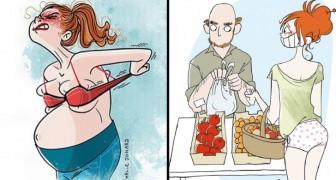 Una mamma artista disegna 25 comiche illustrazioni che mostrano com'è avere dei bambini