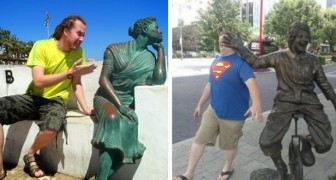 28 people who know how to take a photograph near a statue!