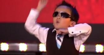 Der vierjährige Tristan tanzt den Gangnam Style