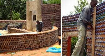 Casas construidas con botella de plastica: aqui la solucion economica, antisismica y ecologica