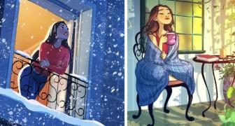 16 ilustrações que mostram a vida de quem decidiu morar sozinho e adora!
