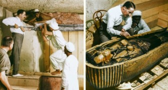 The opening of the tomb of Tutankhamon! Now see those moments in COLOR!