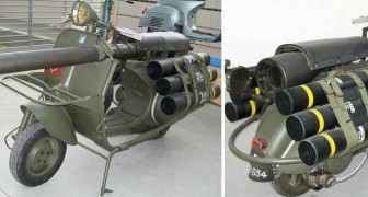 Bazooka Vespa! Here is the Piaggio scooter model that could take out armored tanks!