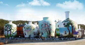 Questo villaggio vacanze in Corea del Sud permette di alloggiare in bellissime case a forma di vaso