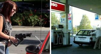 13 personas que demuestran de no saber absolutamente como funciona una estacion de servicio