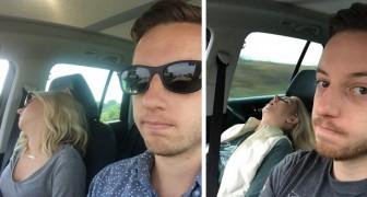Quest'uomo ha scattato una foto per ogni divertentissimo viaggio in auto fatto con la moglie