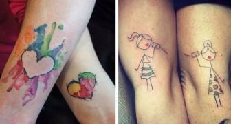30 bellissimi tatuaggi per madre e figlia che celebrano questo legame indissolubile