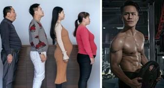 Un'intera famiglia si allena per 6 mesi: le foto del prima e dopo vi lasceranno senza parole