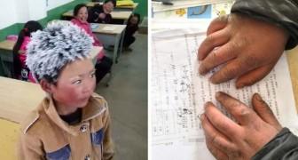 Il marche 5 km à pied dans le gel pour aller à l'école: la photo de cet enfant a ému le monde entier