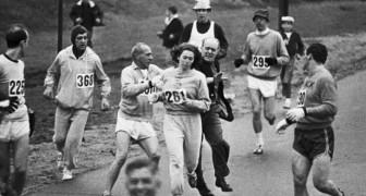 Eine Frau wird während des 1967 Boston Marathon geschubst. Was hatte sie getan?