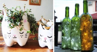 Some fantastic ideas for upcycling common glass or plastic bottles