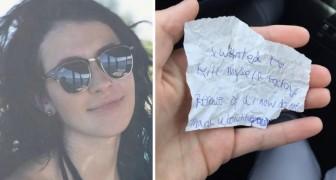 Een studente vraagt een dakloze om met haar te eten: daarna laat hij een hartverscheurend bericht achter