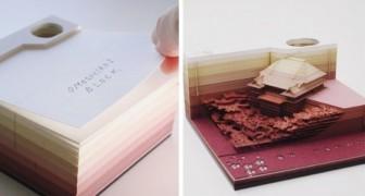 Questi blocchi di foglietti svelano la loro sorpresa un'annotazione alla volta