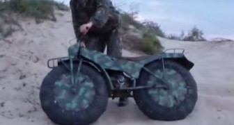 The extraordinary and superlight Russian motorbike