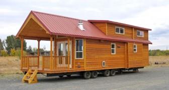 Een houten woning van 60 vierkante meter: een kijkje binnen en je bent er gelijk weg van