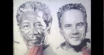 Dibuja con dos manos contemporaneamente