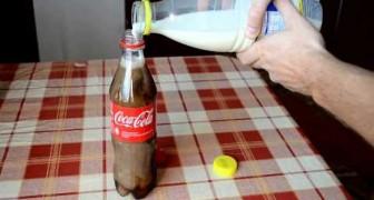Meng melk en coca cola: na 6 uur, heb je een indrukwekkend resultaat