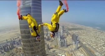 Base jump from the Burj Khalifa in Dubai