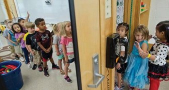 Barnen kommer till skolan med dålig hygien, lärarna skapar en speciell garderob åt dem