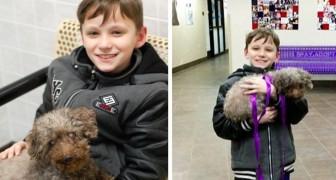 Een kind gaat naar het asiel en adopteert de oudste hond die hij ziet: een les voor iedereen!