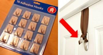 22 ungewöhnliche Verwendungsmöglichkeiten von Klebehaken, die euch ihre unglaubliche Nützlichkeit demonstrieren