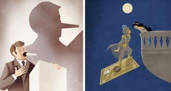 Questo illustratore italiano riesce a mostrare tutta la triste realtà del mondo moderno
