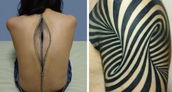 17 tatoeages die je twee keer moet bekijken om te begrijpen wat het is