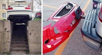 18 photos of parked cars to which you will not know how to give a logical explanation