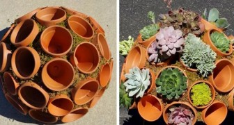 12 beautiful ideas for gardens that are realized with common terracotta pots
