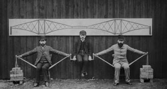 Cette fascinante image de la fin du 19e siècle nous montre comment fonctionnent les ponts en porte-à-faux.