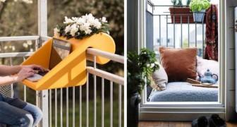 20 ideas brillantes para transformar un pequeño balcon en un lugar acogedor y funcional