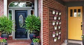 17 Blumenkreationen, die am Eingang des Hauses aufgestellt werden, um die Gäste auf angenehmste Weise willkommen zu heißen