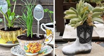 16 objetos reciclados que vão deixar o seu jardim ou sacada ainda mais bonitos!