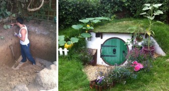 Would you like to live in a hobbit house? This young man built one himself ... Take a look!