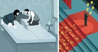 16 illustrations qui offrent une vision brutale mais honnête de notre société