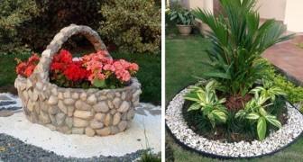 25 ideas originales para decorar vuestro jardin usando grava o guijarros