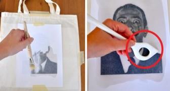 Transferir tus dibujos preferidos sobre tejido con un metodo casero simplisimo