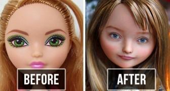 Diese ukrainische Künstlerin entfernt die Schminke von den Puppen und wiederbemalt die Gesichter: Der Effekt ist unglaublich real