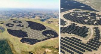 In China wurde ein riesiges pandaförmiges Photovoltaik-Kraftwerk geschaffen ... entworfen von einem 15-jährigen Mädchen