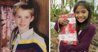 När han är 7 år skickar han ett julpaket till Filippinerna: 14 år senare kommer den gesten att förändra hans liv