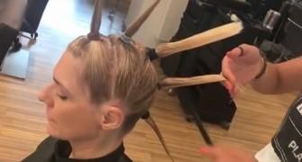 Divide in ciocche i capelli e inizia a tagliare: ecco il trucco della parrucchiera da rifare subito a casa!